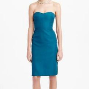 J CREW Rory Strapless Dress in Classic Faille 4